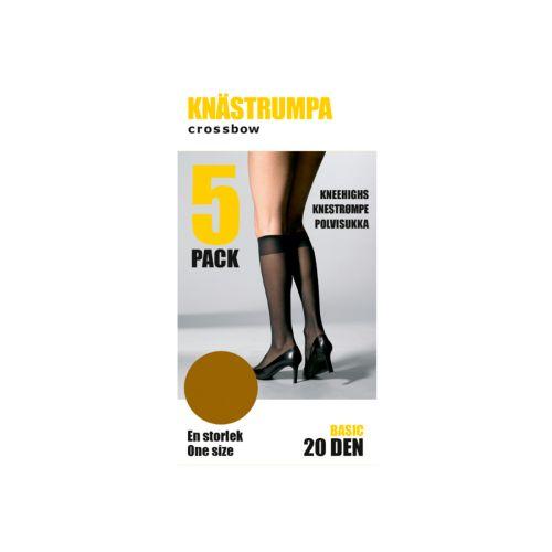 CROSSBOW NAISTEN 5-PACK POLVISUKKA, 20DEN, RUSKEA