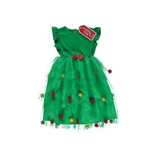 """Lasten """"Joulukuusi"""" mekko, koot 98/104-134/140"""