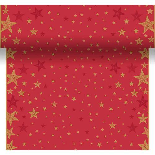 DUNI POIKKILIINA SHINING STAR PUNAINEN 0,4,X4,8M