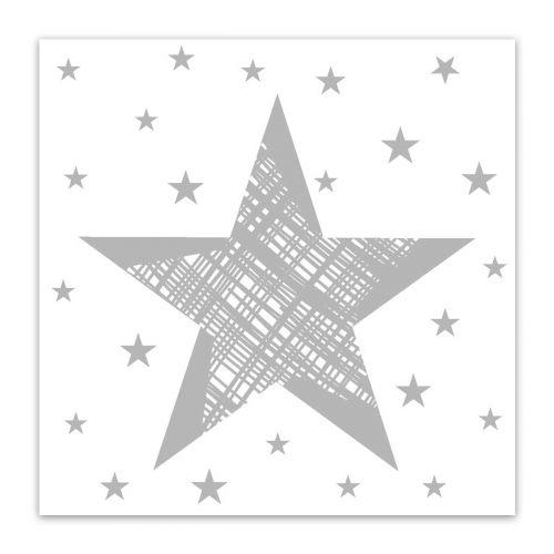 DUNI LAUTASLIINA 24CM SHINING STAR VALKOINEN 20KPL