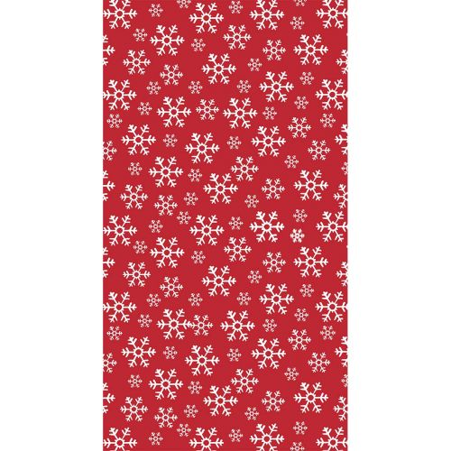 DUNICEL PL RED SNOWFLAKES 138X220CM