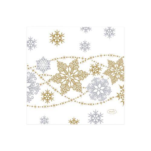 DUNI LAUTASLIINA SNOW GLITTER VALKOINEN 24CM