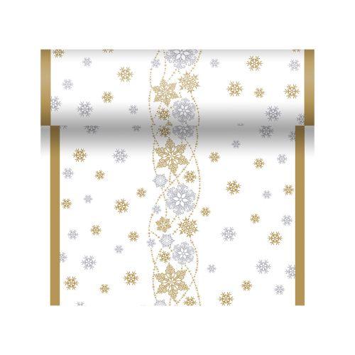 DUNICEL POIKKILIINA SNOW GLITTER VALKOINEN 0,4,X4,8m