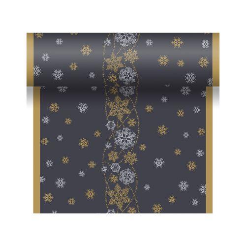 DUNICEL POIKKILIINA SNOW GLITTER MUSTA 0,4,X4,8m