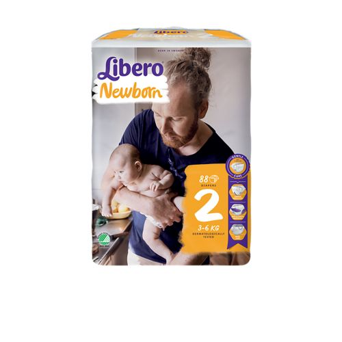 LIBERO NEWBORN KOKO 2 3-6 KG  88 KPL