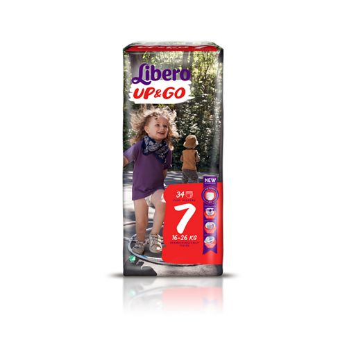 LIBERO UP&GO KOKO 7 16-26 KG  34 KPL