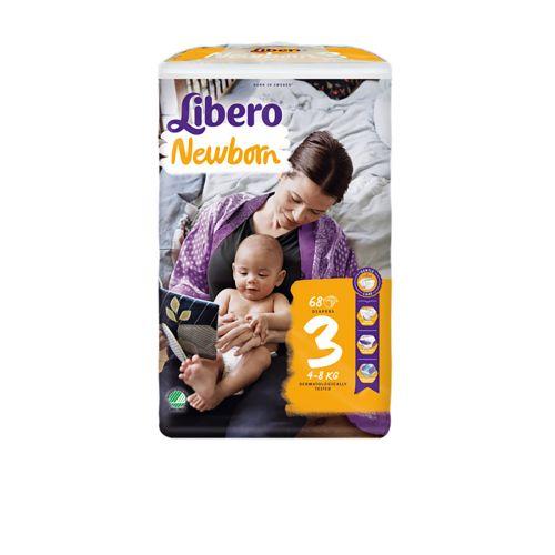 LIBERO NEWBORN KOKO 3 4-8KG  68 KPL