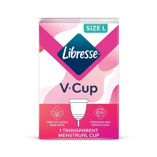 LIBRESSE V-CUP KUUKAUTISKUPPI L