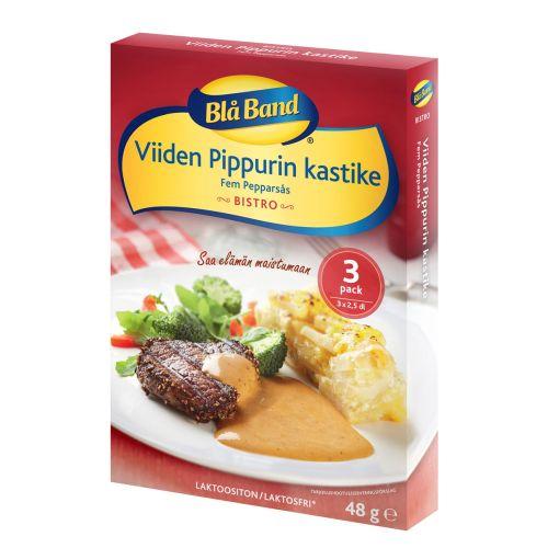 BLÅ BAND BISTRO KASTIKE VIISI PIPPURIA 3-PACK 48 G