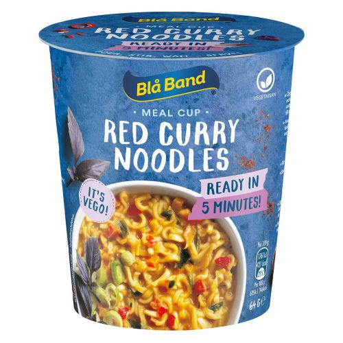 BLÅ BAND MEAL CUP RED CURRY NOODLES 64 G
