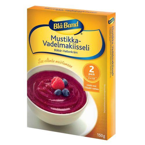 BLÅ BAND KIISSELIJAUHE  MUSTIKKA-VADELMA 150 G