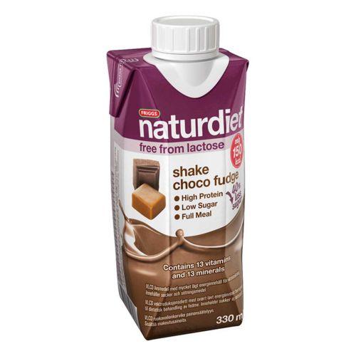 NATURDIET SHAKE SUKLAA-TOFFEE LAKTON 330 ML