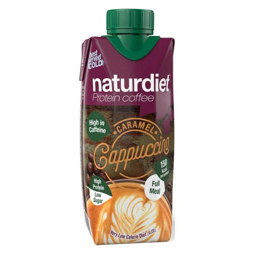 NATURDIET PROTEIN COFFEE CARAMEL-CAPPUCCINO 330 ML