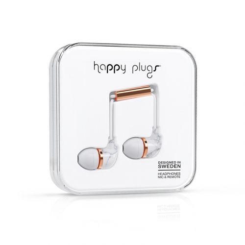 HAPPY PLUGS IN-EAR NAPPIKUULOKKEET WHITE CARRARA MARBLE