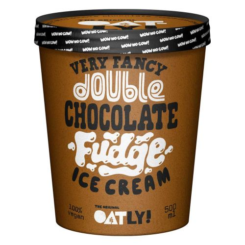 OATLY JÄÄTELÖ DOUBLE CHOCOLATE FUDGE 500 ML