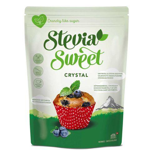 HERMESETAS STEVIA SWEET CRYSTAL KIDEMAKEUTTAJA 250 G