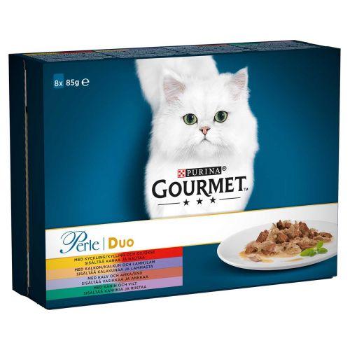 PURINA GOURMET PERLE DELICATE MEATS DUO LAJ 85G 8-PACK 680 G