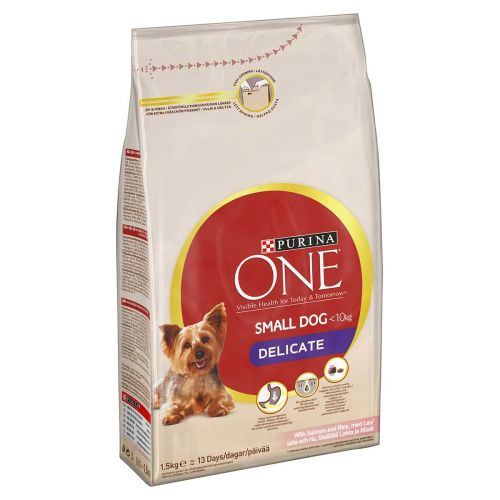 PURINA ONE SMALL DOG DELICATE LOHI-RIISI 1,5 KG