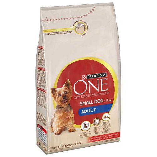 PURINA ONE SMALL DOG ADULT NAUTA-RIISI 1,5 KG