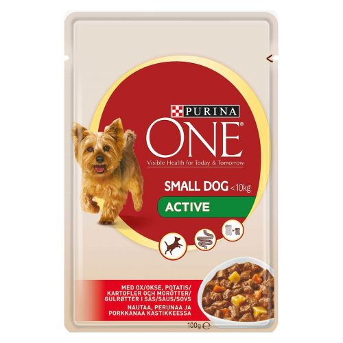 PURINA ONE SMALL DOG ACTIVE NAUTA-PERUNA-PORKKANA 100 G