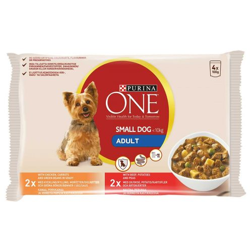 PURINA ONE SMALL DOG ADULT ANNOSP 100G 4-PACK 400 G