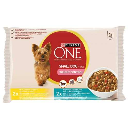 PURINA ONE SMALL DOG WEIGHT CONTROL ANNOSP 100G 4-PACK 400 G