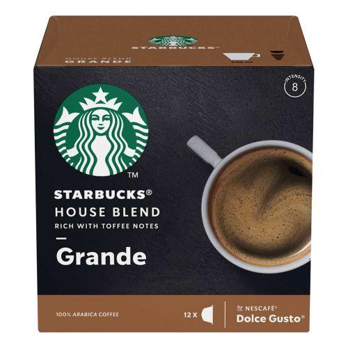 STARBUCKS NESCAFÉ DOLCE GUSTO HOUSE BLEND GRANDE 12 KAPS 102 G