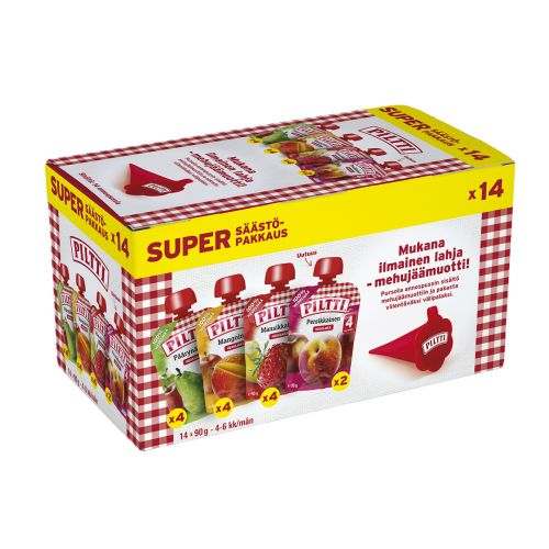 PILTTI SUPERSÄÄSTÖPAKKAUS 4-6KK PSS 14-PACK 1,26 KG