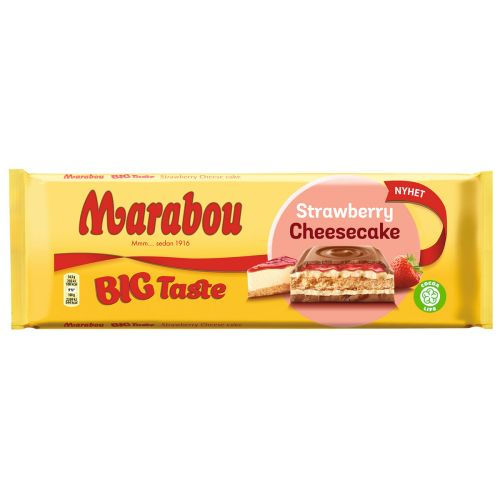 MARABOU BIG TASTE STRAWBERRY CHEESECAKE 300 G