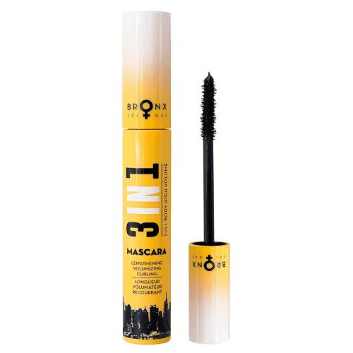 BRONX COLORS 3 IN 1 MASCARA 12 ML, 413 BLACK