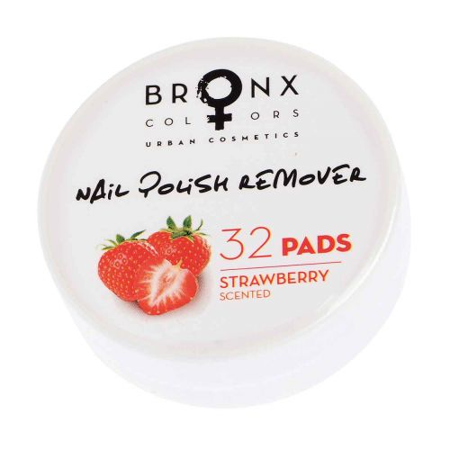 BRONX COLORS NAIL POLISH REMOVER PADS 32KPL, 01 STRAWBERRY 32 KPL