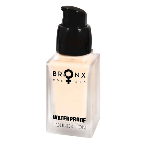 BRONX COLORS WATERPROOF FOUNDATION 20 ML, 01 LIGHT BEIGE