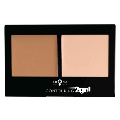 BRONX COLORS CONTOURING 2GO 8 G, 02 DARK BROWN / PINK BEIGE