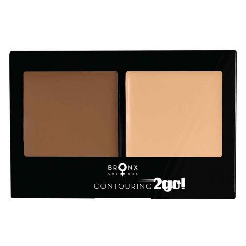 BRONX COLORS CONTOURING 2GO 8 G, 03 DEEP BROWN / MEDIUM BEIGE