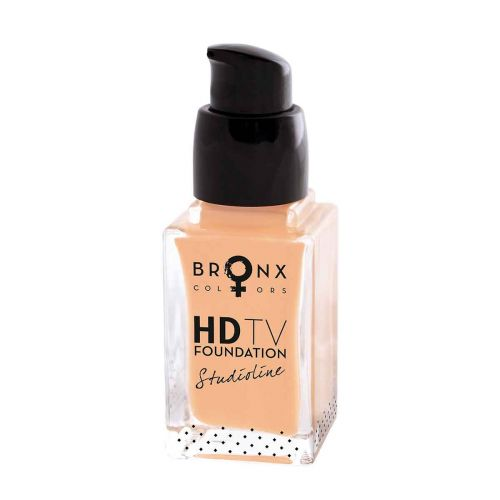 BRONX COLORS STUDIOLINE HD TV FOUNDATION 20 ML, 02 BEIGE