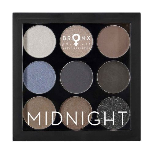 BRONX COLORS MIDNIGHT PALETTE 4,5 G, 01 MIDNIGHT 9 SÄVYN PALE