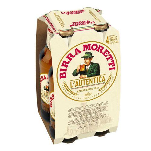 BIRRA MORETTI 4,6% 0,33 KLP 4-PACK 1,32 L