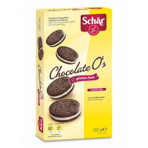 SCHÄR CHOCOLATE O´S TÄYTEKEKSI GLUTEENITON 165 G
