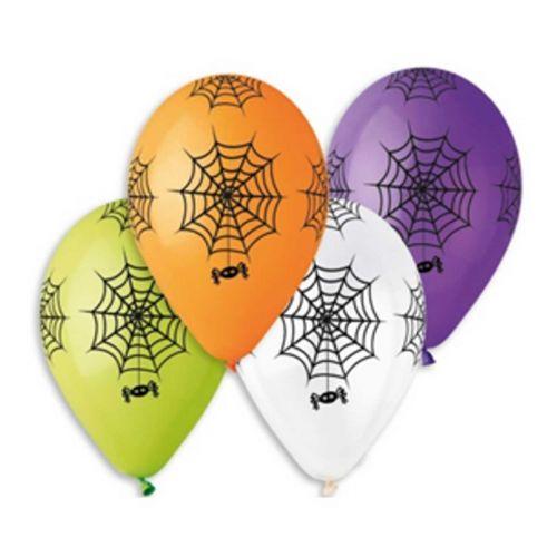 Hämähäkinverkko ilmapallo 30cm värisekoitus 5kpl/pss