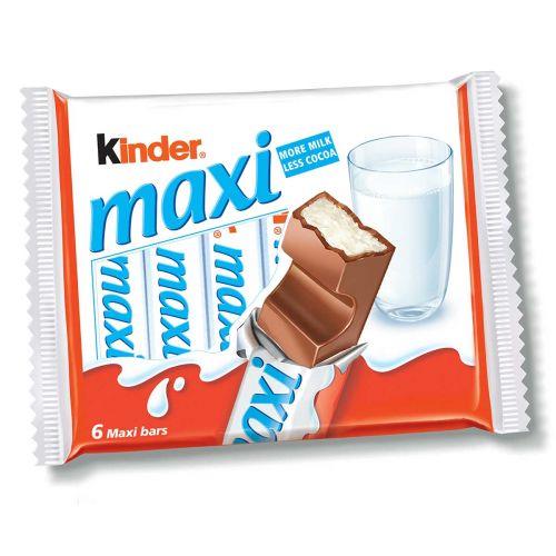 KINDER KINDER MAXI MAITOSUKLAAPATUKKA 6-PACK 126 G