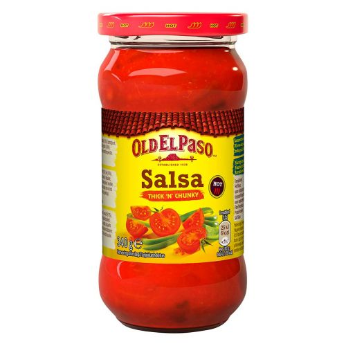 OLD EL PASO THICK'N' CHUNKY SALSA HOT 340 G