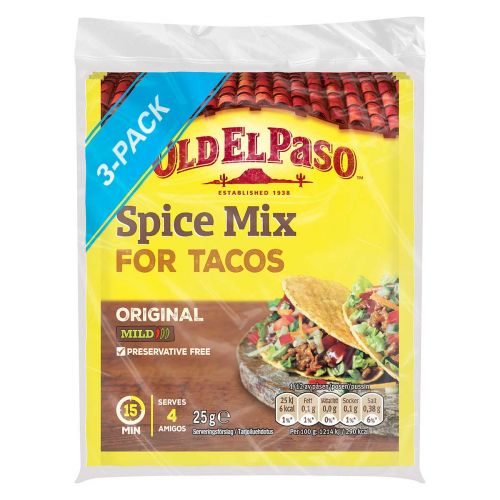 OLD EL PASO TACO SPICE MIX 3-PACK 75 G