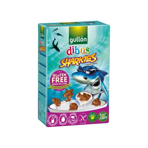 GULLON DIBUS SHARKIES KEKSI GLUTEENITON 250 G