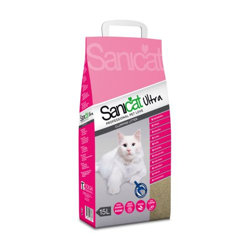Sanicat Ultra kissanhiekka 15 L