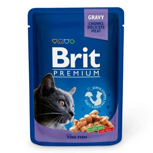 BRIT PREMIUM CAT ADULT GRAVY COD FISH 100 G