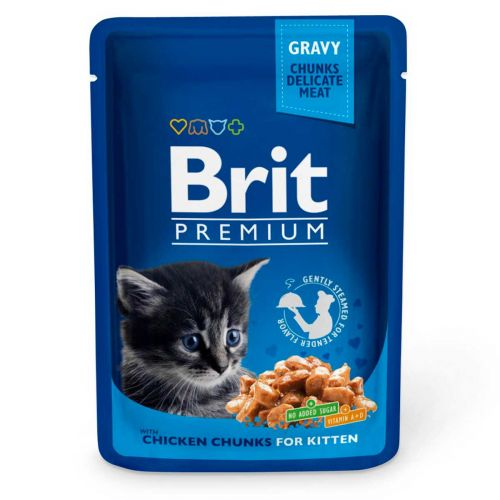 BRIT PREMIUM CAT KITTEN GRAVY CHICKEN 100 G