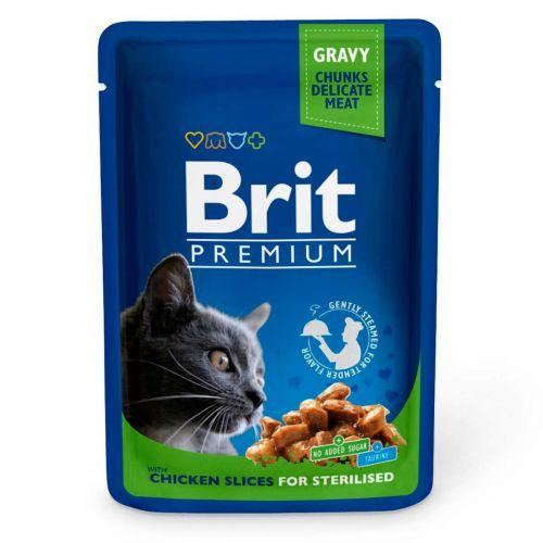 BRIT PREMIUM CAT GRAVY STERILISED CHICKEN 100 G