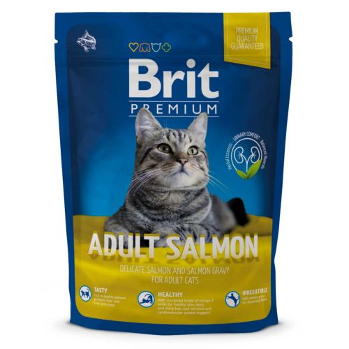 BRIT PREMIUM CAT ADULT SALMON 300 G