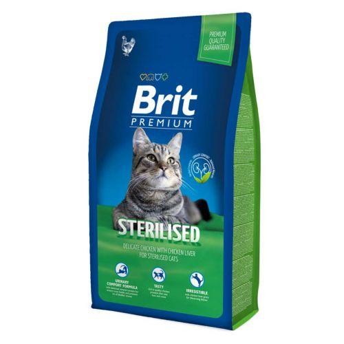 BRIT PREMIUM CAT STERILISED CHICKEN 8 KG