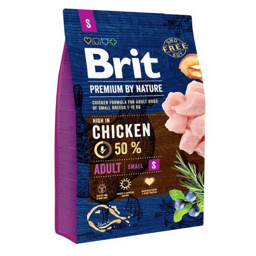 BRIT PREMIUM BY NATURE ADULT S CHICKEN 3 KG